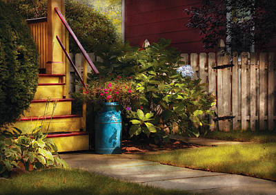Porch - Summer Retreat Print by Mike Savad