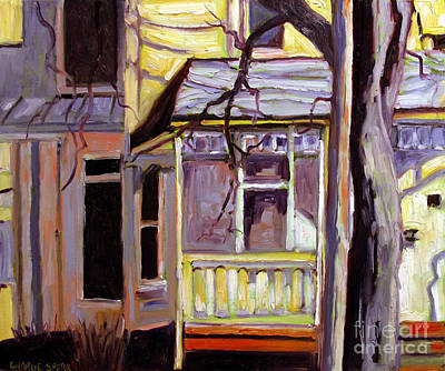 Porch Alight With The Sun Print by Charlie Spear