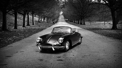 Adverts Photograph - Porsche 356 1965 by Mark Rogan