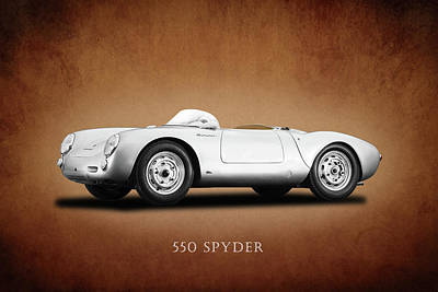 Motor Sports Photograph - Porsche 550 by Mark Rogan