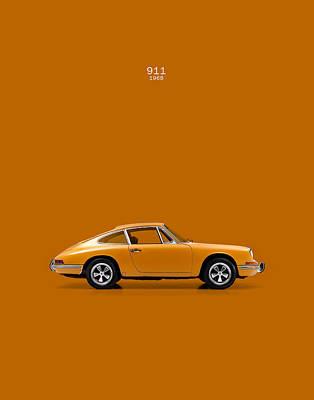Porsche 911 1968 Print by Mark Rogan