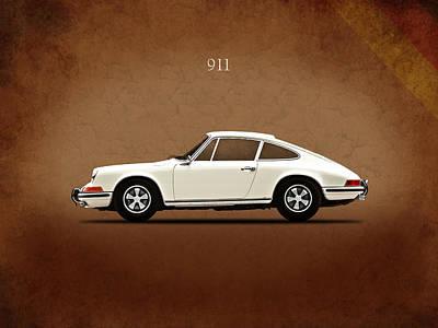 Porsche 911 E Print by Mark Rogan