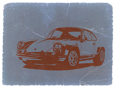 American Digital Art - Porsche 911 by Naxart Studio