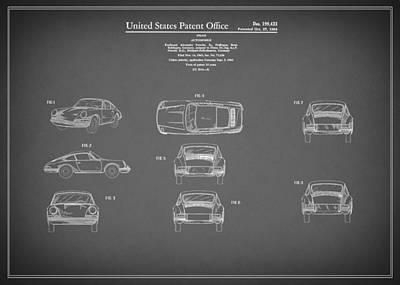 Porsche 911 Patent 1964 Print by Mark Rogan