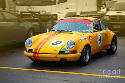 Muscle Car Masters Photograph - Yellow Porsche 911 by Stuart Row