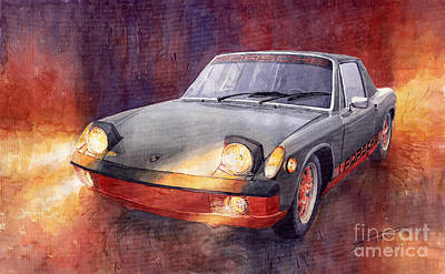 1969 Painting - 1970 Porsche 914 by Yuriy  Shevchuk