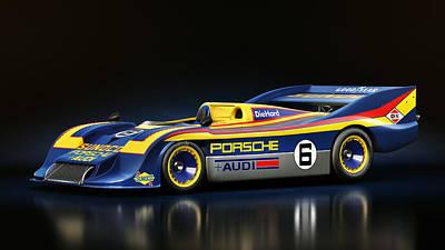 Prototype Digital Art - Porsche 917/30 by Marc Orphanos