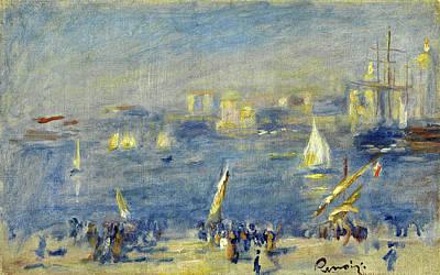 Pierre-auguste Renoir Painting - Port De Marseille. Le Fort Saint-jean by Pierre-Auguste Renoir