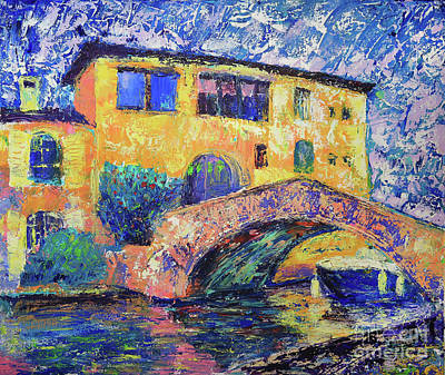 Port Grimaud Bridge Print by Denys Kuvaiev