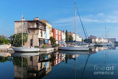 Port Grimaud Port With Yachts Print by Edoardo Nicolino