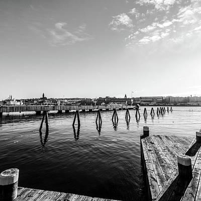 Sweden Digital Art - Port In Gothenburg by Toppart Sweden