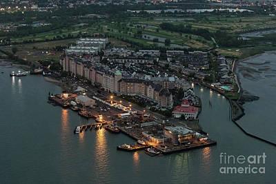Liberte Photograph - Port Liberte, Jersey City Aerial Night View by David Oppenheimer