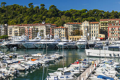 Sailboat Photograph - Port Of Nice by Elena Elisseeva