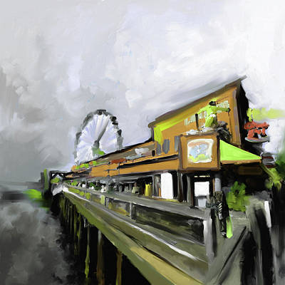 Airport Painting - Port Of Seattle II 485 Iv by Mawra Tahreem