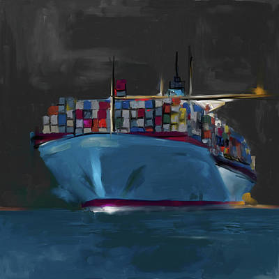Airport Painting - Port Of Seattle IIi 486 I by Mawra Tahreem