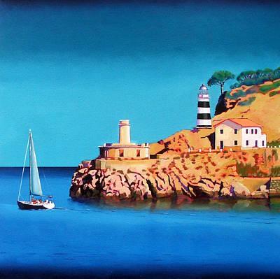 Spain Painting - Port Soller Two by Paul Powis