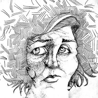 Portait Of A Woman Print by Michelle Calkins