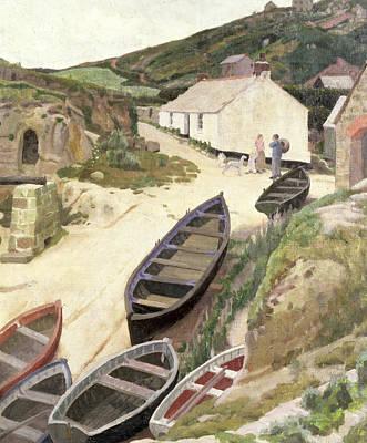 Porthgwarra Cornwall Print by Ernest Procter