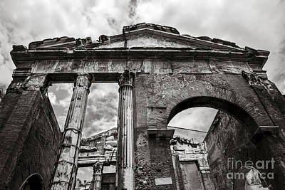 Porticus Octaviae In Rome Print by Diane Diederich