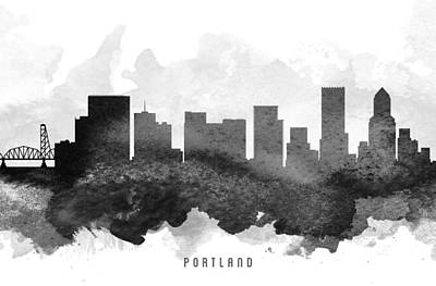 Portland Cityscape 11 Print by Aged Pixel