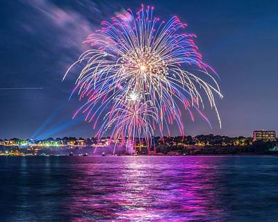 July 4 Photograph - Portland Fireworks II by Tim Sullivan