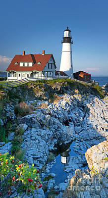 Portland Head Light Print by Jane Rix