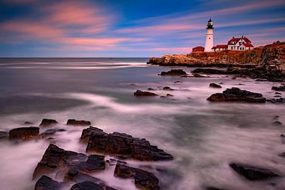 Guiding Light Photograph - Portland Head Lighthouse by Rick Berk