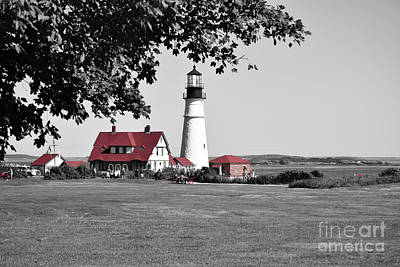 Photograph - Portland Head Red by Patti Whitten