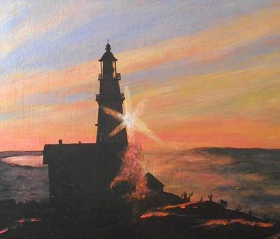 New England Lighthouse Painting - Portland Lighthouse  by Patricia Hovey