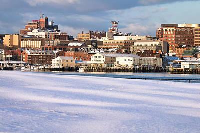 Portland Maine Winter Skyline Print by Eric Gendron