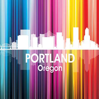 Skyscraper Digital Art - Portland Or 2 Squared by Angelina Vick