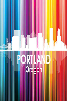Architecture Digital Art - Portland Or 2 Vertical by Angelina Vick