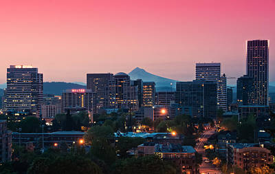 Portland Sunrise Print by Brian Bonham