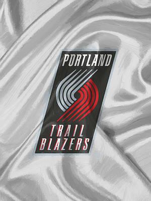 Iphone Digital Art - Portland Trail Blazers by Afterdarkness