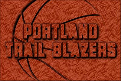 Portland Trail Blazers Leather Art Print by Joe Hamilton