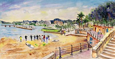 Porto Cristo 01 Print by Miki De Goodaboom