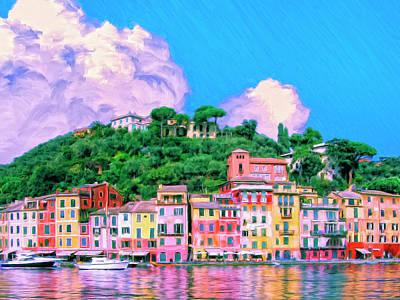 Portofino Beach Painting - Portofino by Dominic Piperata