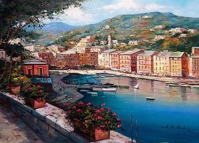 Portofino Beach Painting - Portofino Italy by Ernesto Di Michele