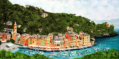 Shutters Painting - Portofino, Italy by Mary Grden's Baywood Gallery