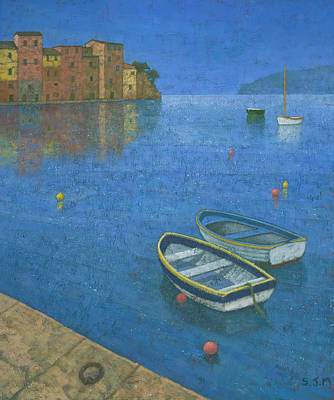 Portofino Painting - Portofino by Steve Mitchell