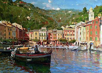 Portofino Italy Painting - Portofino by Vincenzo Aprile