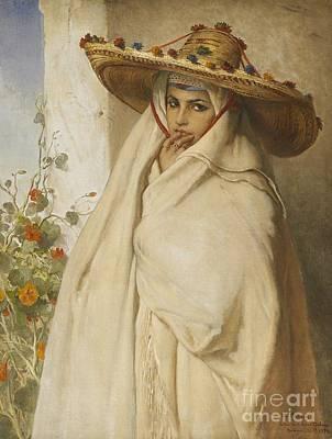 Portrait Painting - Portrait Aouicha by Jean