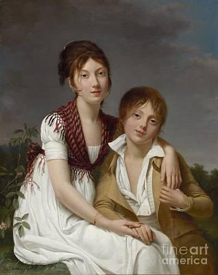 Justine Painting - Portrait D'amelie-justine Et De Charles-edouard Pontois by Celestial Images