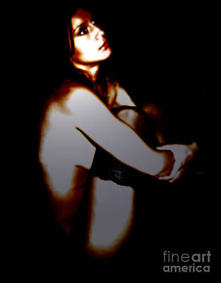 Nude Female Art Photograph - Portrait In Pearl Dark  by Jacob Smith