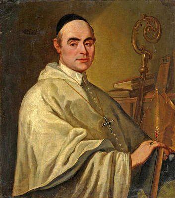 Painting - Portrait Of A Bishop by Gregorio Lazzarini