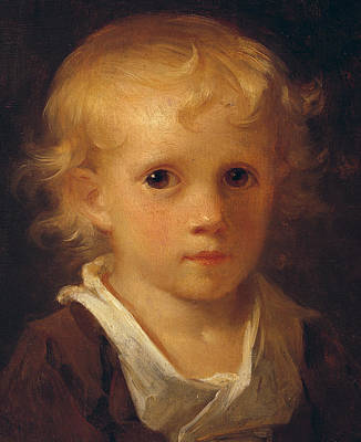 Portrait Of A Child Print by Jean-Honore Fragonard