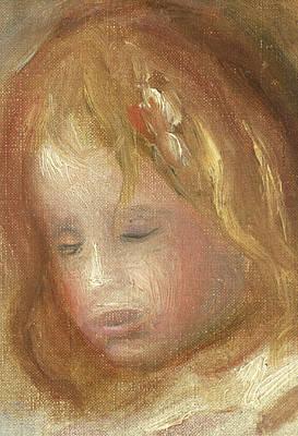 Portrait Of A Child Print by Pierre Auguste Renoir