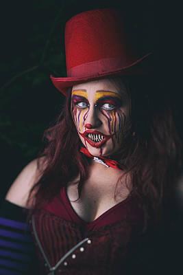 Portrait Of A Clown Print by CJ Schmit