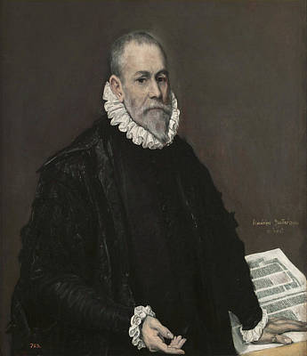Spain Painting - Portrait Of A Doctor by El Greco