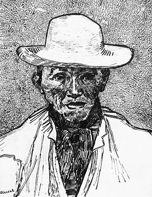 Self Drawing - Portrait Of A Farmer by Vincent Van Gogh